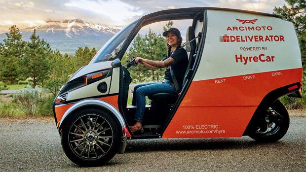 Arcimoto Elektrische auto op drie wielen