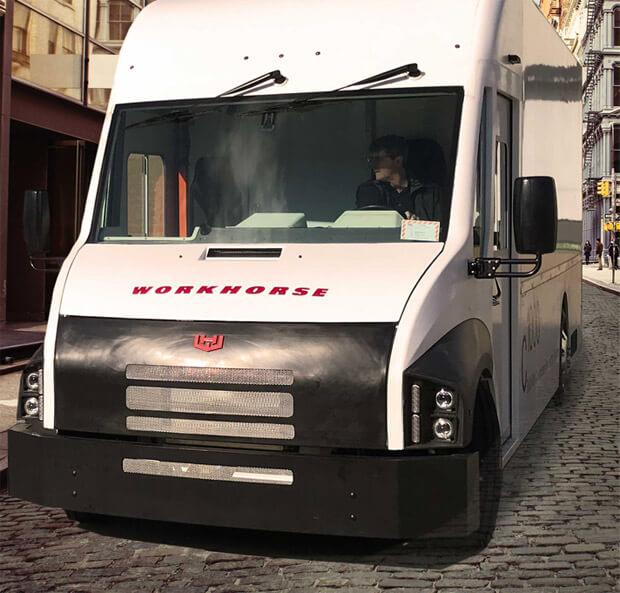 beleggen in workhorse electronic transport bestelwagen